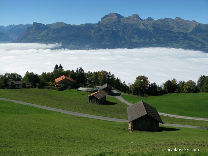 Liechtenstein. Clouds