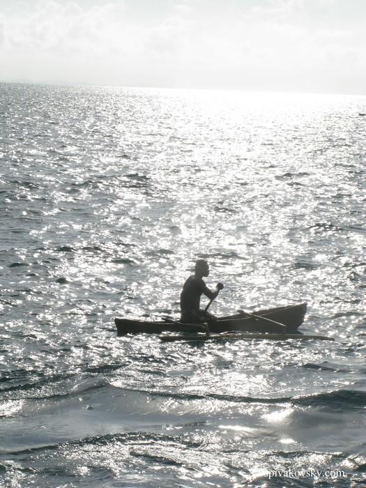 A boat. Jamaica