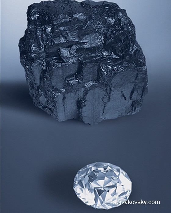 Ore and diamond. Museum of Chicago