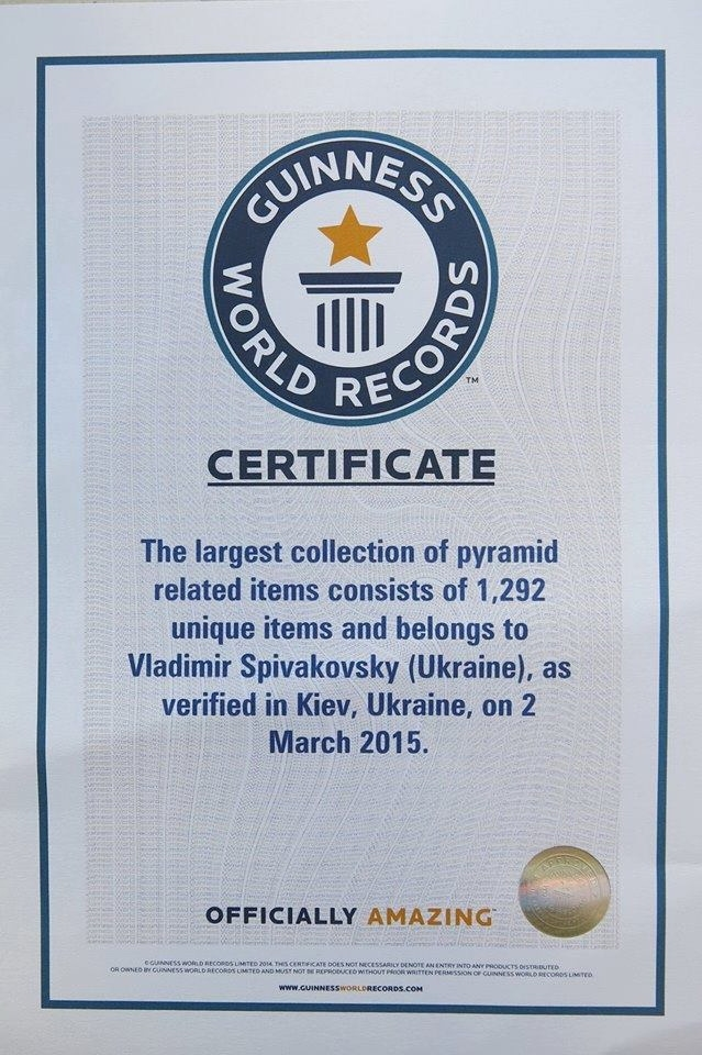 The biggest in the world Collection of PYRAMIDS