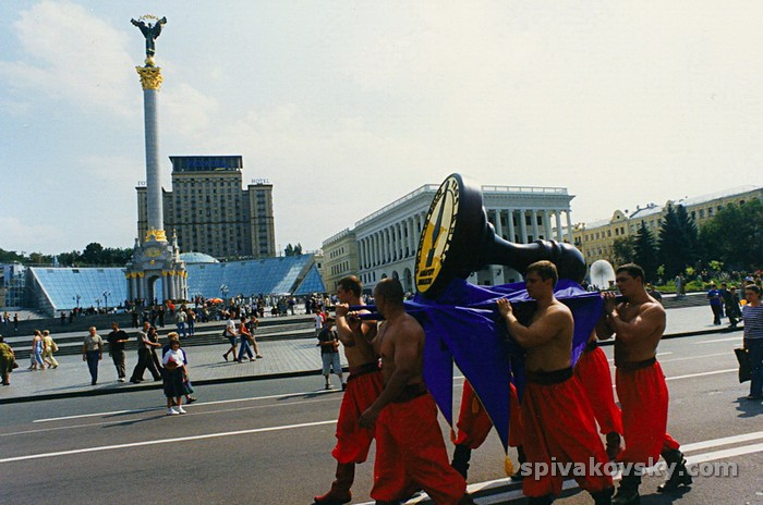 The biggest seal in the world in Kiev on Independence Square
